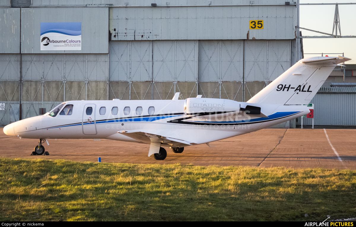 Lux Wing Group 9H-ALL aircraft at East Midlands