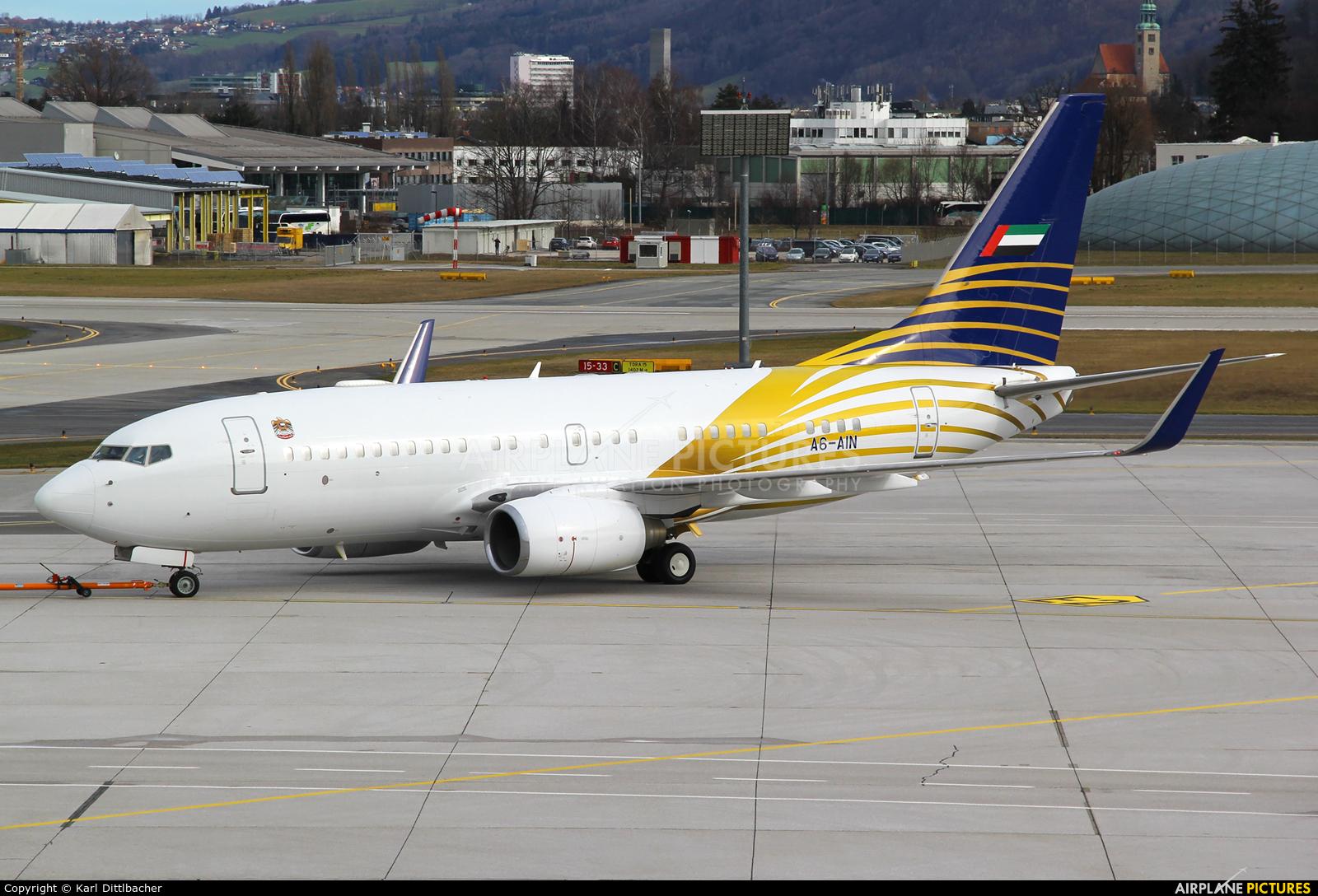 Royal Jet A6-AIN aircraft at Salzburg