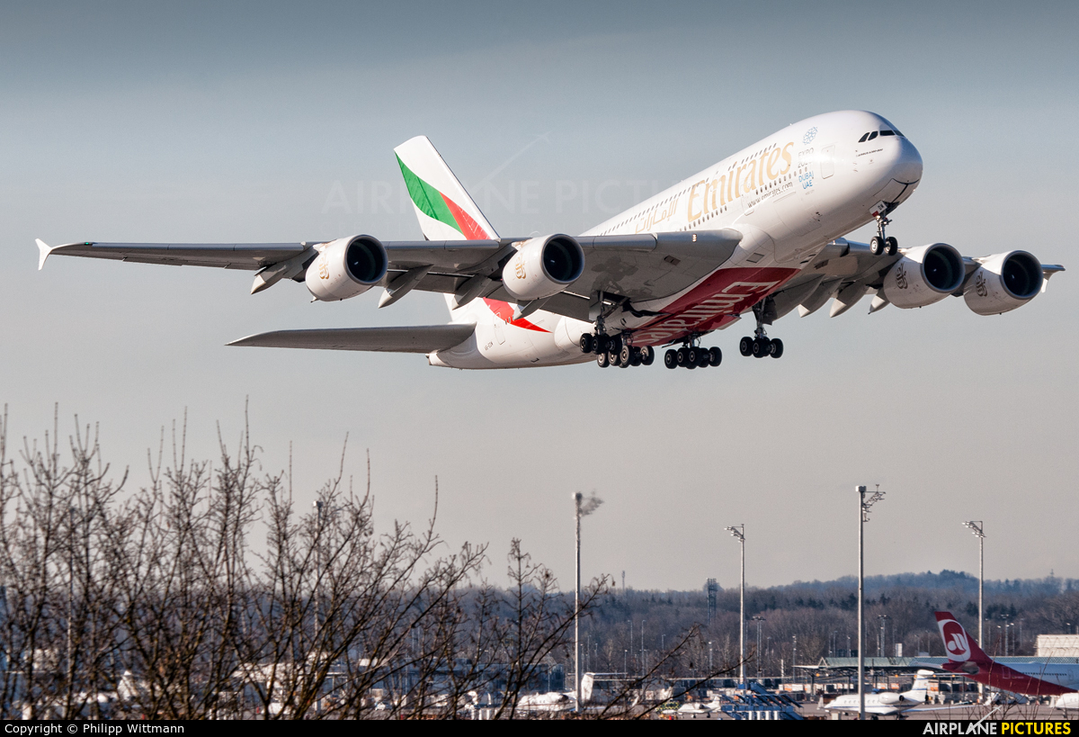 Emirates Airlines A6-EDM aircraft at Munich