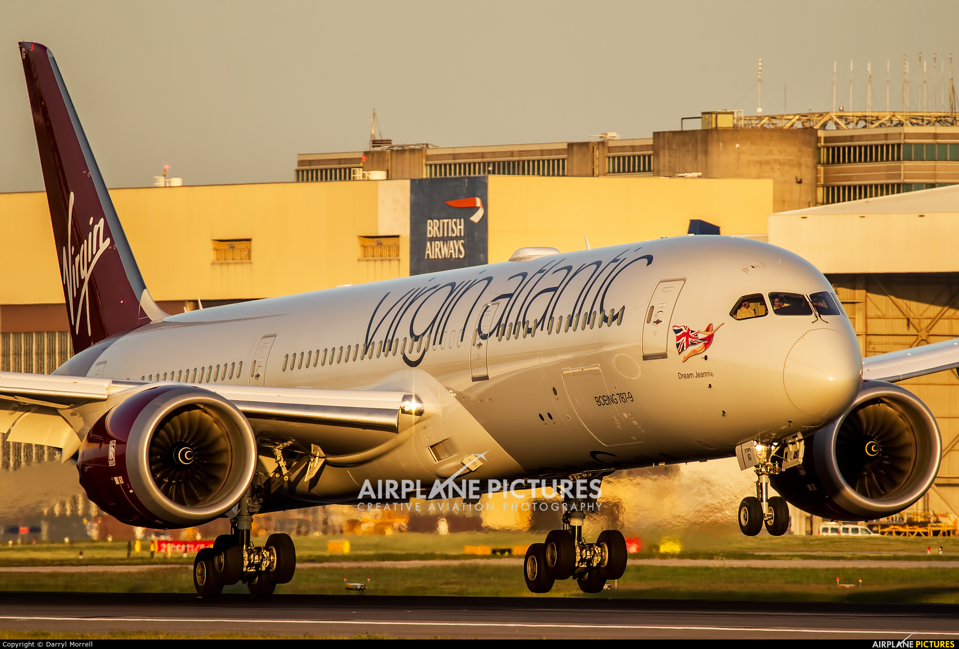 Virgin Atlantic G-VZIG aircraft at London - Heathrow