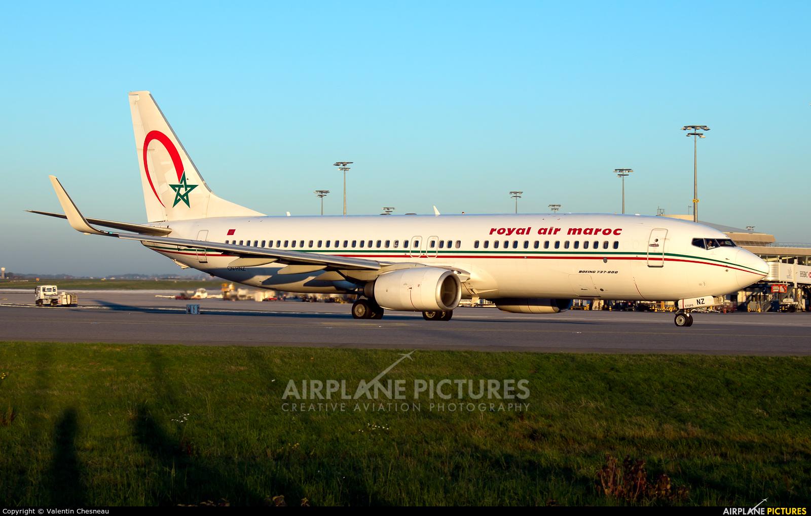 Royal Air Maroc CN-RNZ aircraft at Paris - Charles de Gaulle