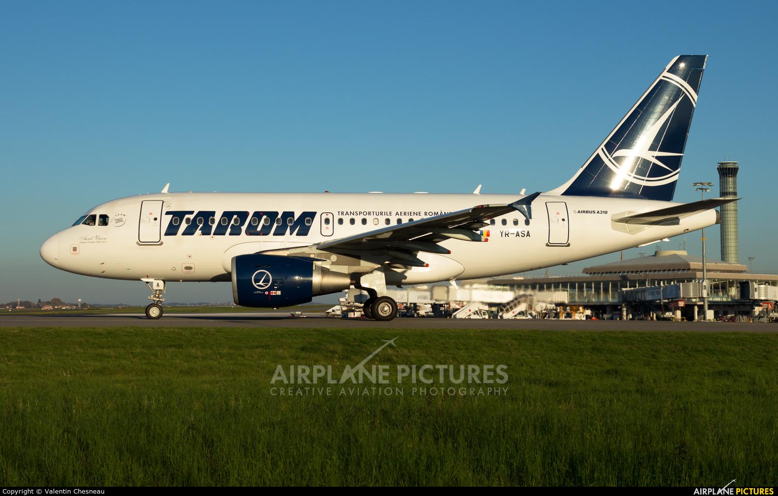 Tarom YR-ASA aircraft at Paris - Charles de Gaulle