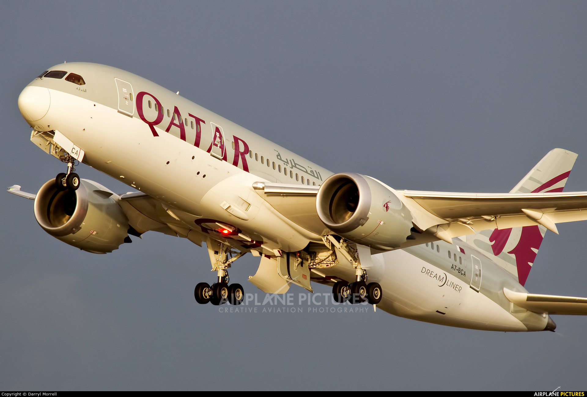 Qatar Airways A7-BCA aircraft at London - Heathrow