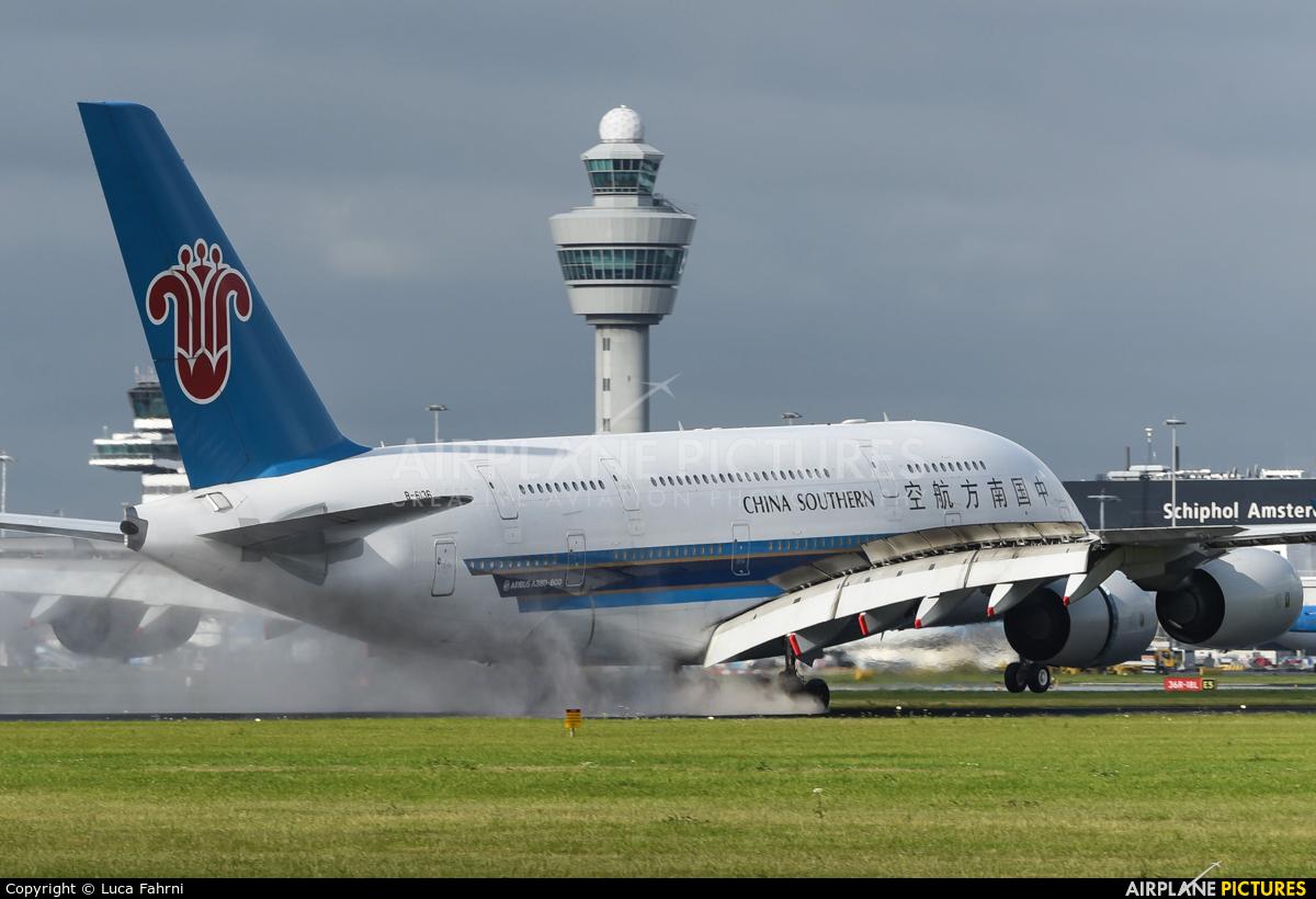 China Southern Airlines B-6136 aircraft at Amsterdam - Schiphol