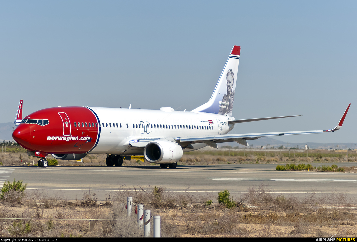 LN-NIF - Norwegian Air Shuttle Boeing 737-800 at Murcia