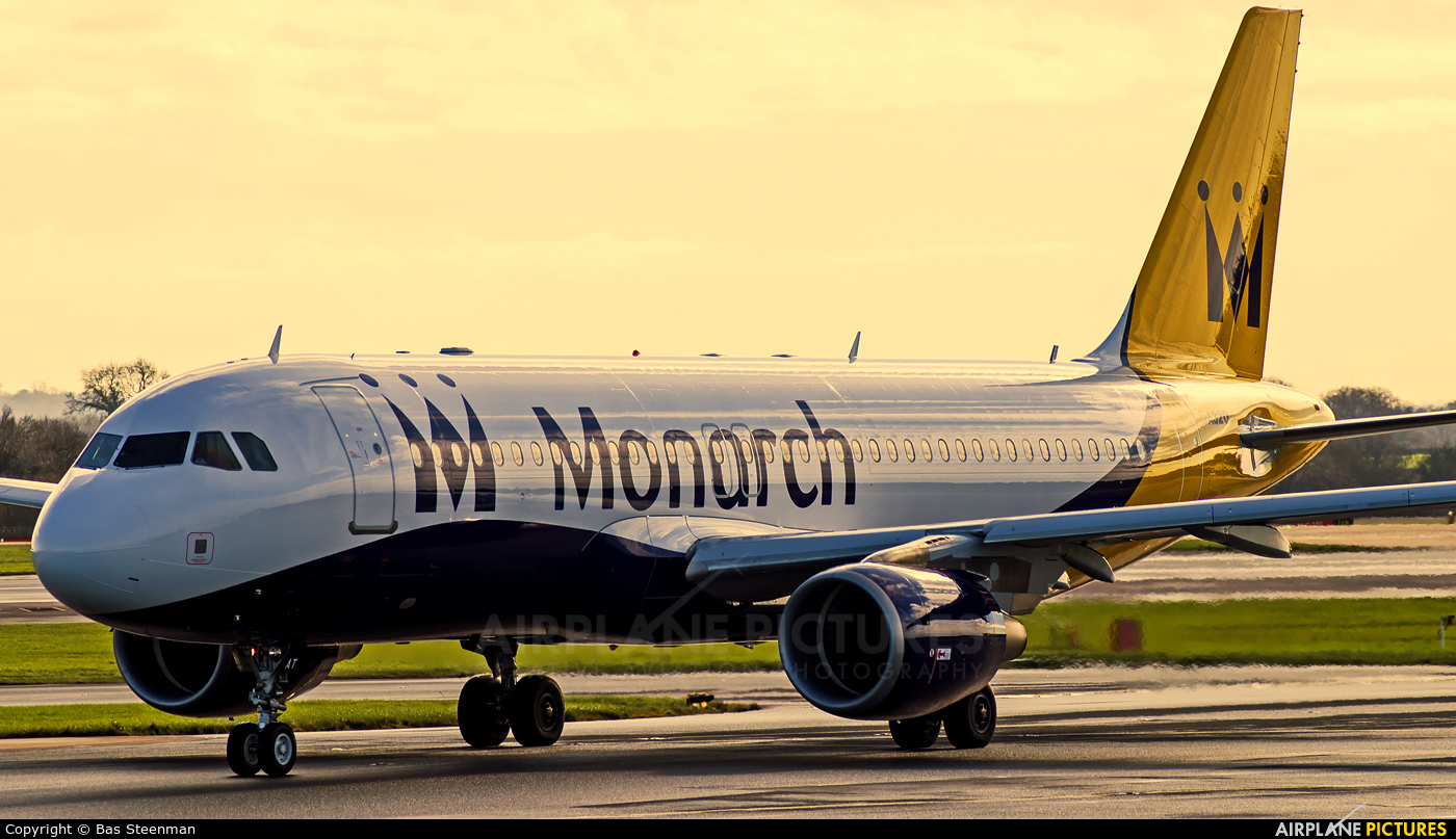 Monarch Airlines G-ZBAT aircraft at Manchester