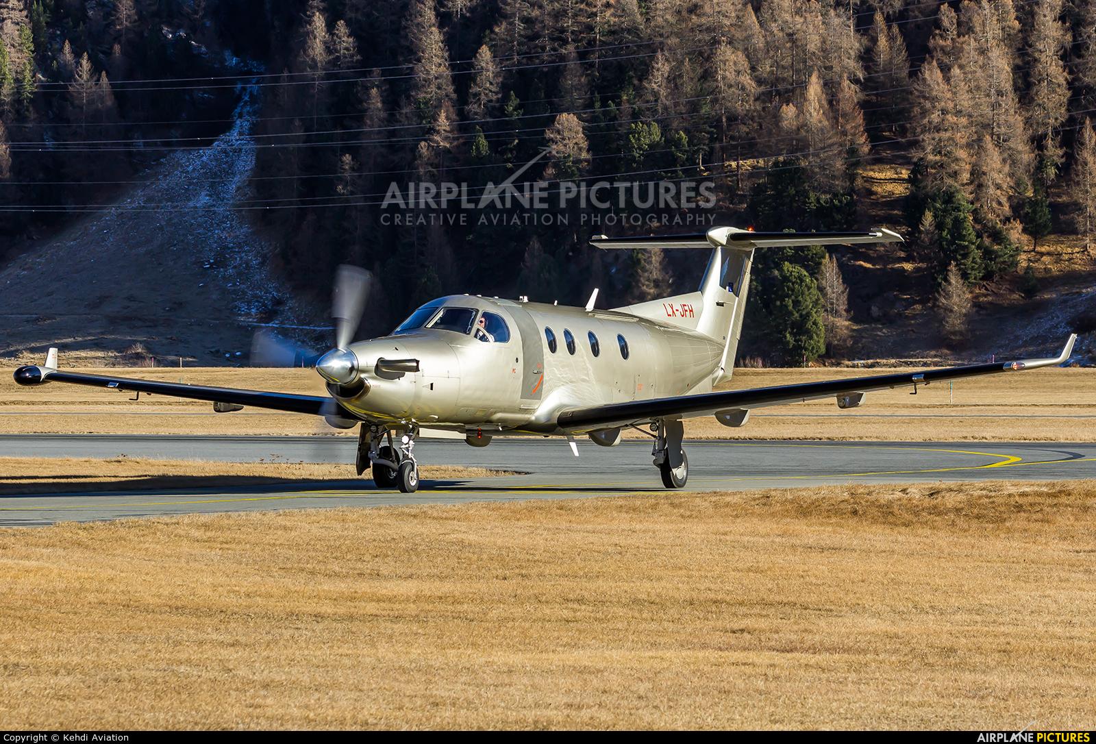 Jetfly Aviation LX-JFH aircraft at Samedan - Engadin
