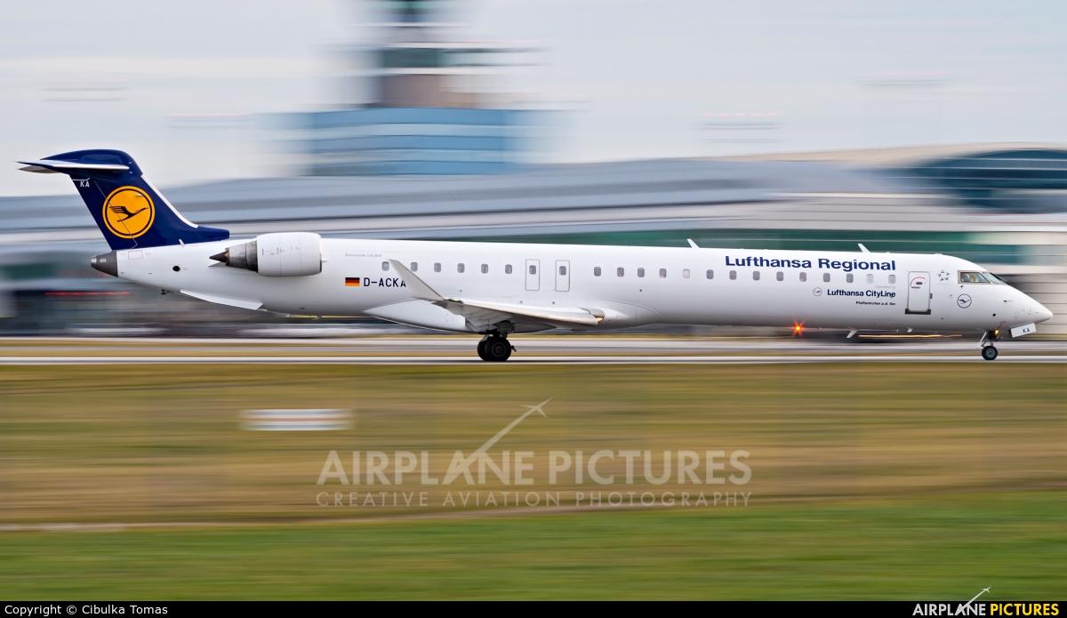Lufthansa Regional - CityLine D-ACKA aircraft at Prague - Václav Havel