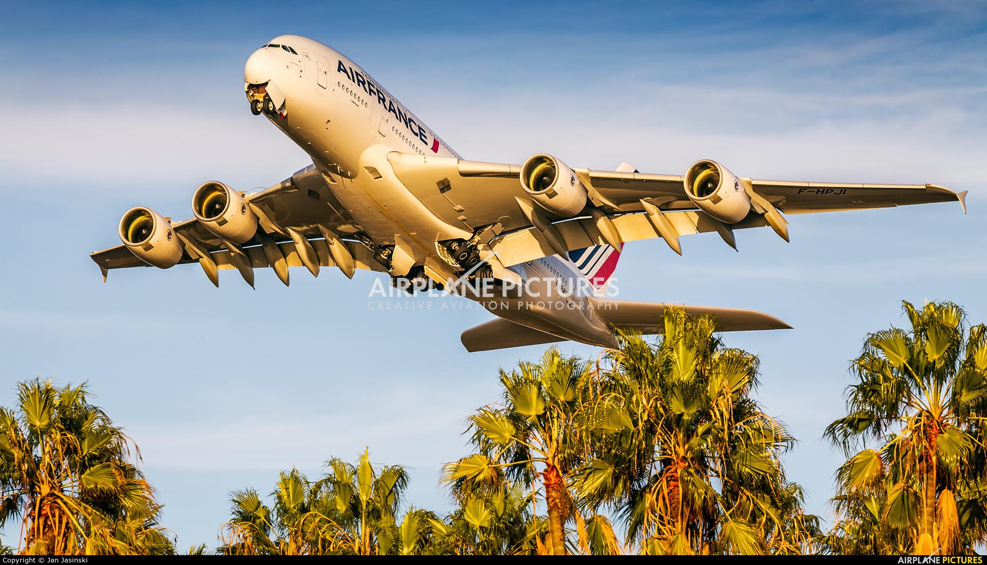 Air France F-HPJI aircraft at Los Angeles Intl