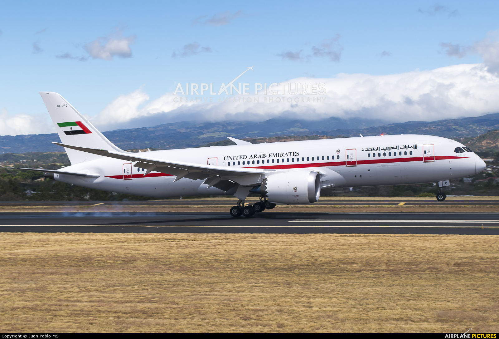 United Arab Emirates - Government A6-PFC aircraft at San Jose - Juan Santamaría Intl