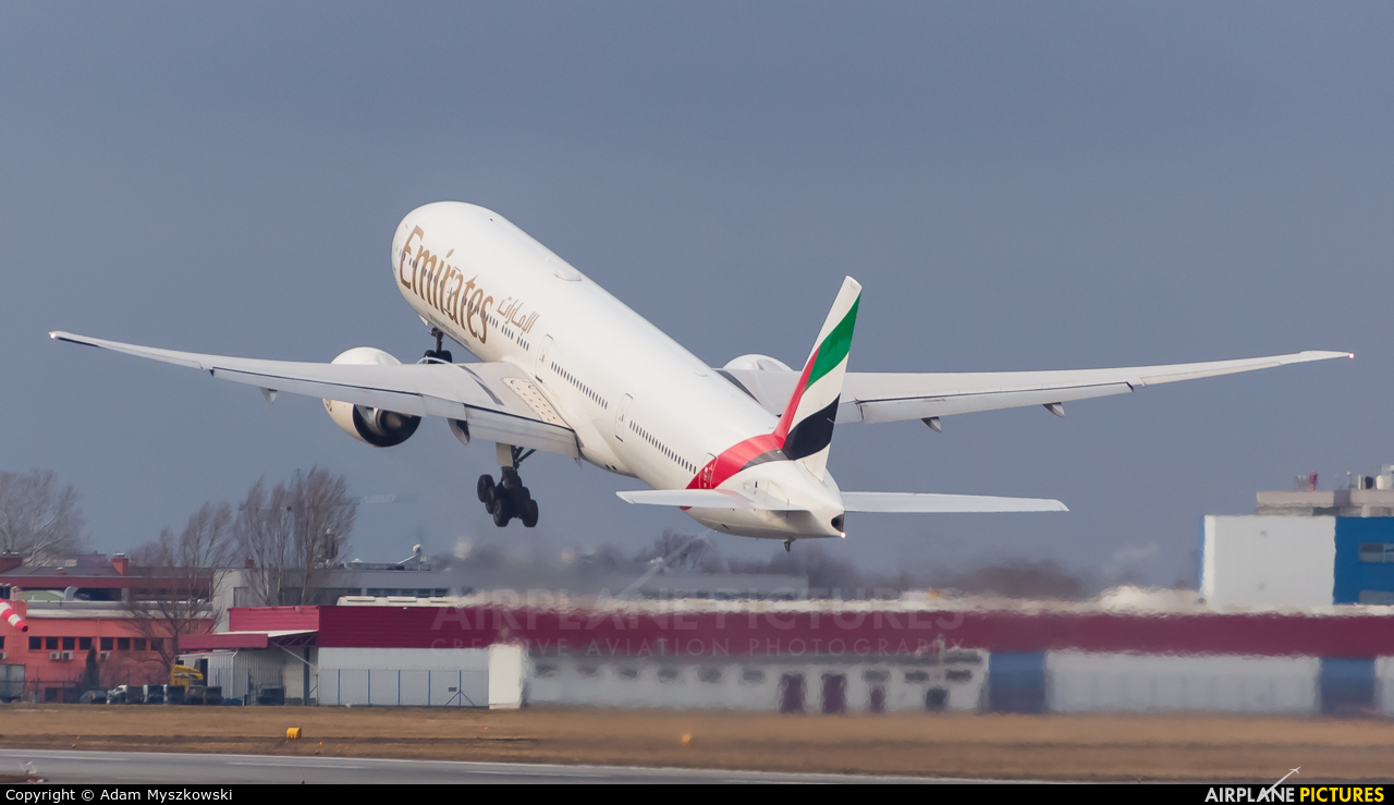 Emirates Airlines A6-EGQ aircraft at Warsaw - Frederic Chopin