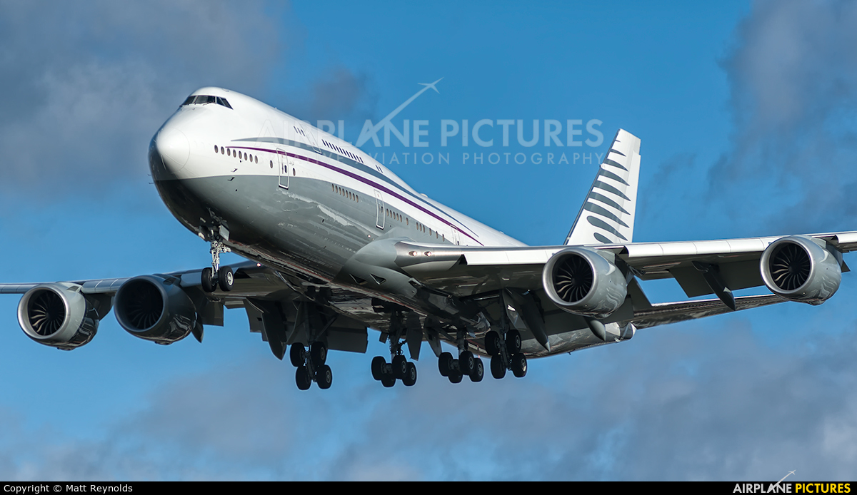 A7HBJ  Qatar Amiri Flight Boeing 7478 BBJ At London  Heathrow  Photo ID