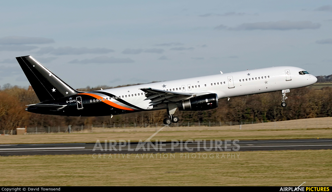 Titan Airways G-ZAPX aircraft at Prestwick