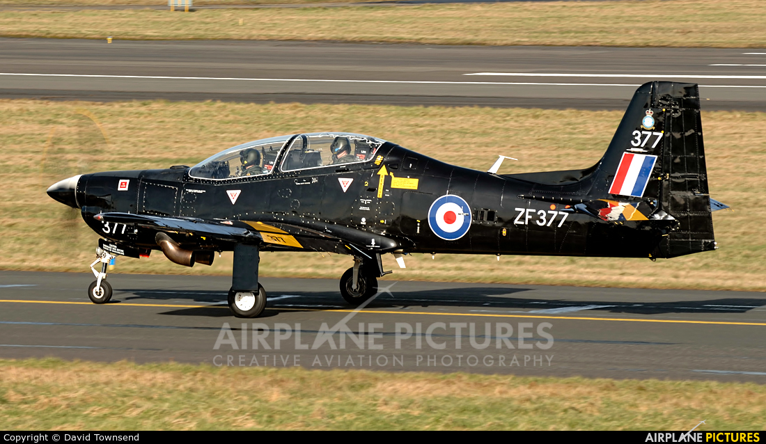 Royal Air Force ZF377 aircraft at Prestwick