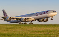 A7-AGA - Qatar Airways Airbus A340-600 aircraft
