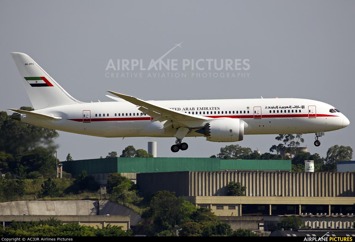 United Arab Emirates - Government A6-PFC aircraft at São Paulo - Guarulhos
