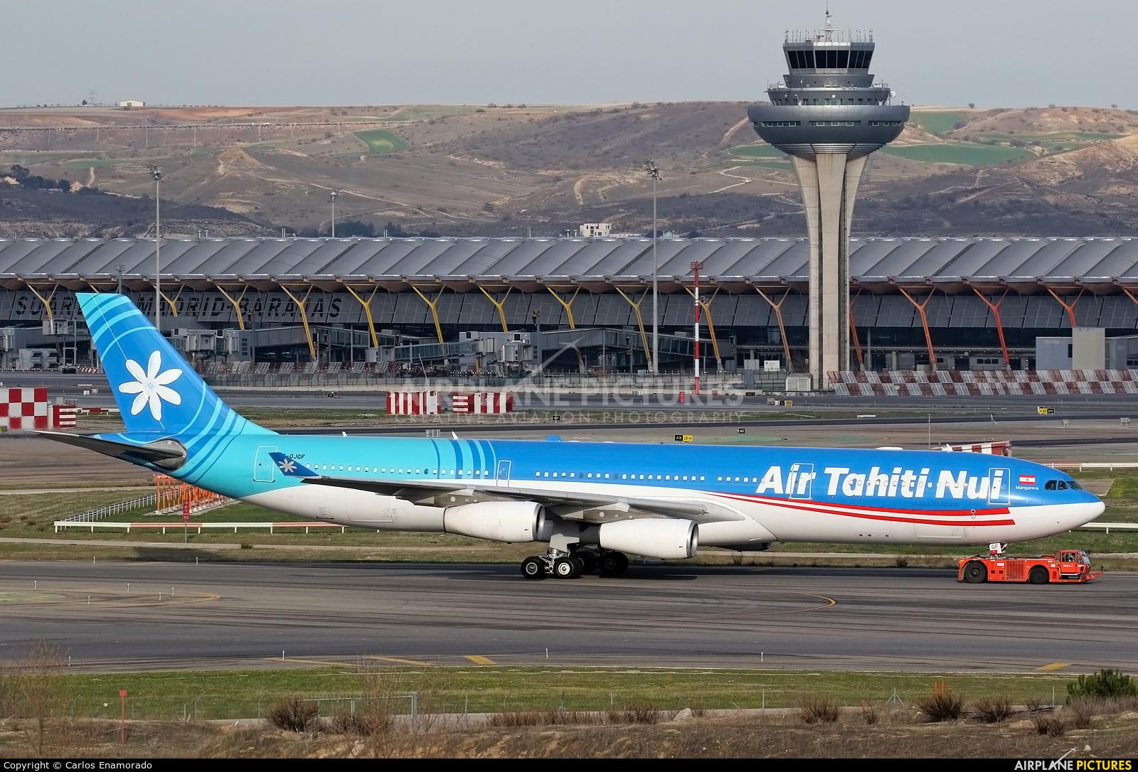 Air Tahiti Nui F-OJGF aircraft at Madrid - Barajas