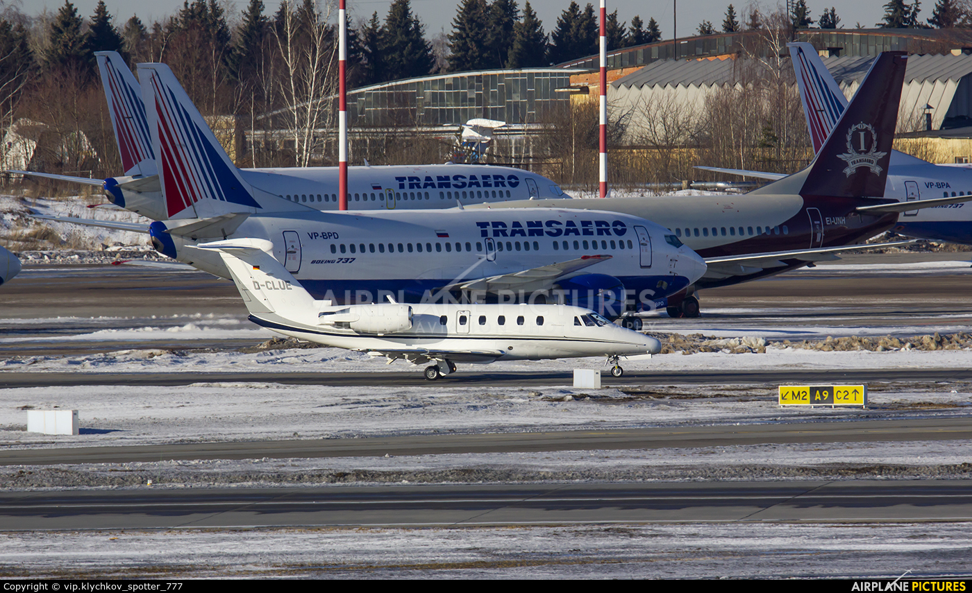 Baden Aircraft Operations D-CLUE aircraft at Moscow - Vnukovo