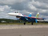 """12 - Russia - Air Force """"Russian Knights"""" Sukhoi Su-27P aircraft"""