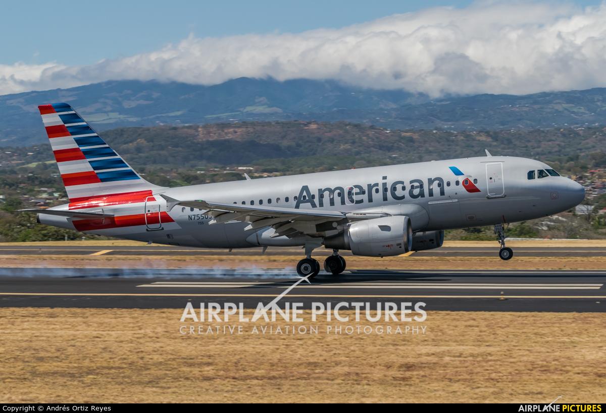 American Airlines N755US aircraft at San Jose - Juan Santamaría Intl