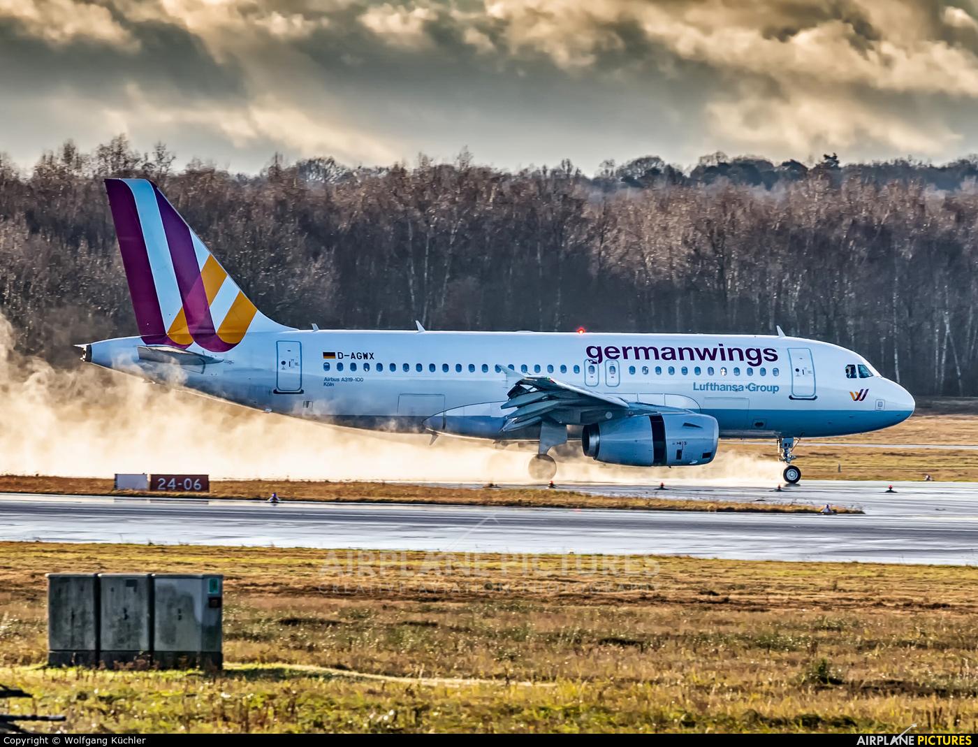 Germanwings D-AGWX aircraft at Cologne Bonn - Konrad Adenauer