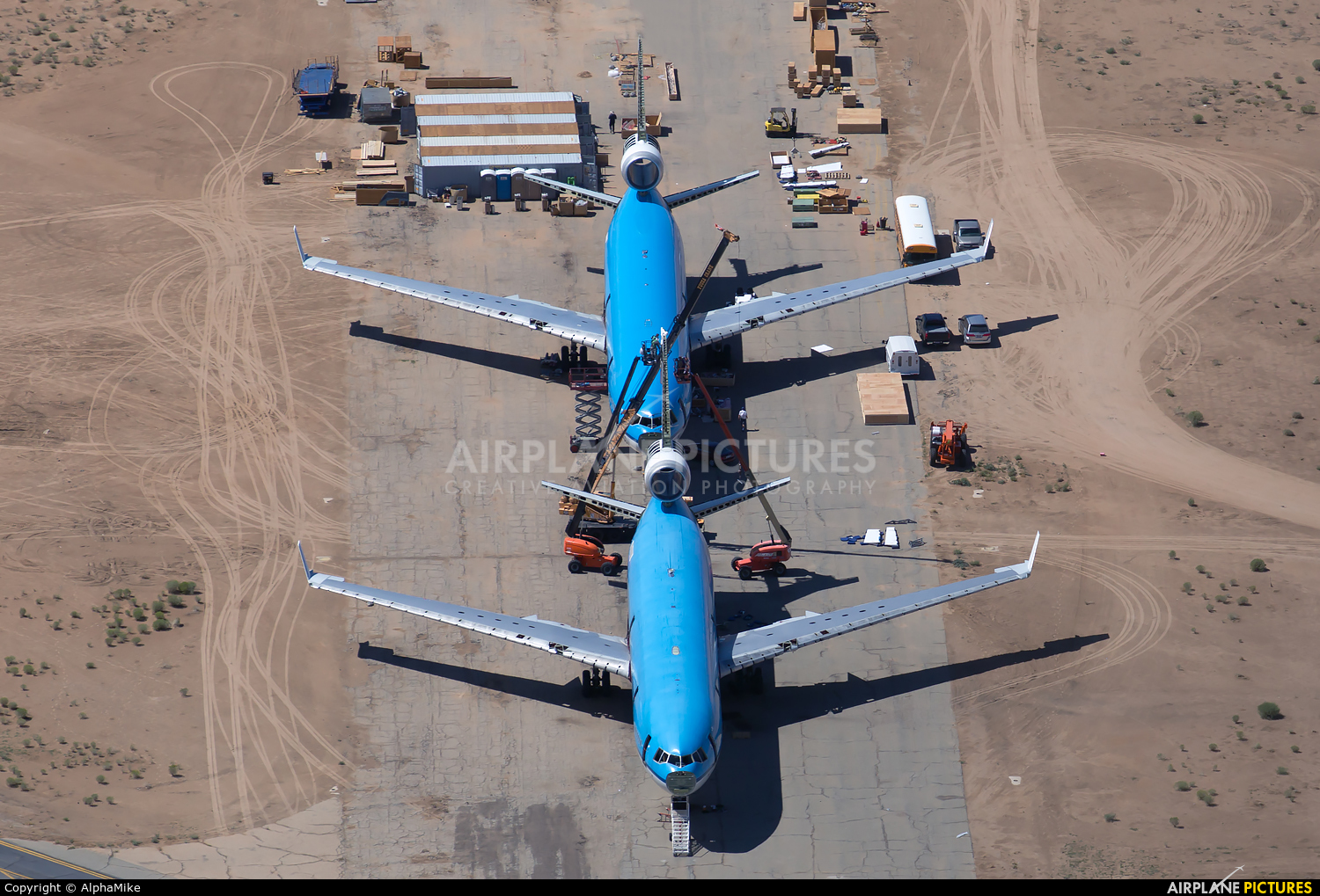 KLM - aircraft at Victorville - Southern California Logistics