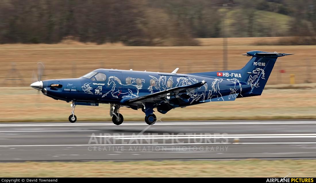 Pilatus HB-FWA aircraft at Prestwick