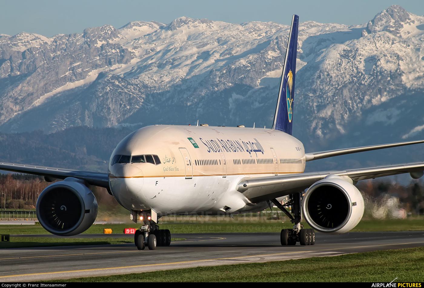 Saudi Arabian Airlines HZ-AKF aircraft at Salzburg
