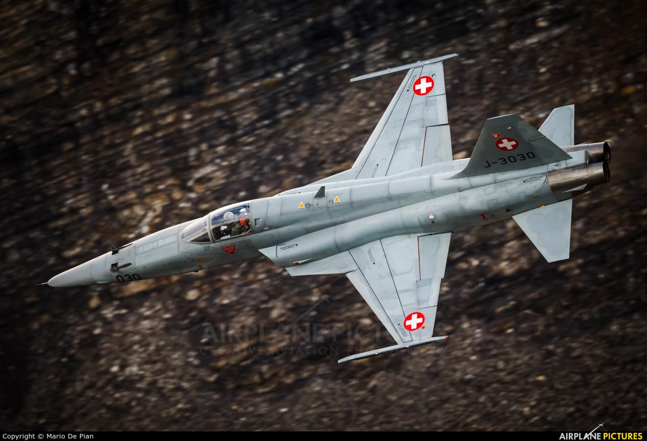 Switzerland - Air Force J-3030 aircraft at Axalp - Ebenfluh Range