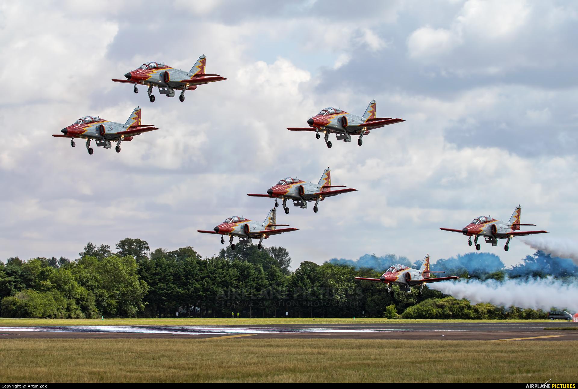 Spain - Air Force : Patrulla Aguila E25-31 aircraft at Fairford