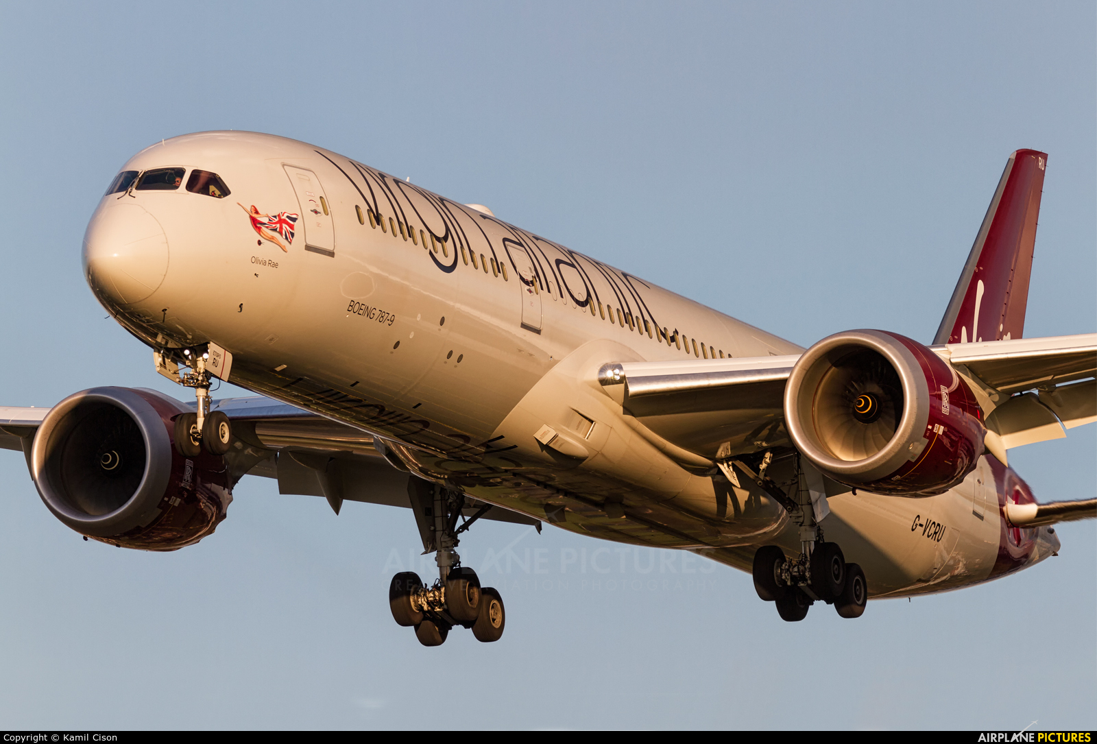 Virgin Atlantic G-VCRU aircraft at London - Heathrow