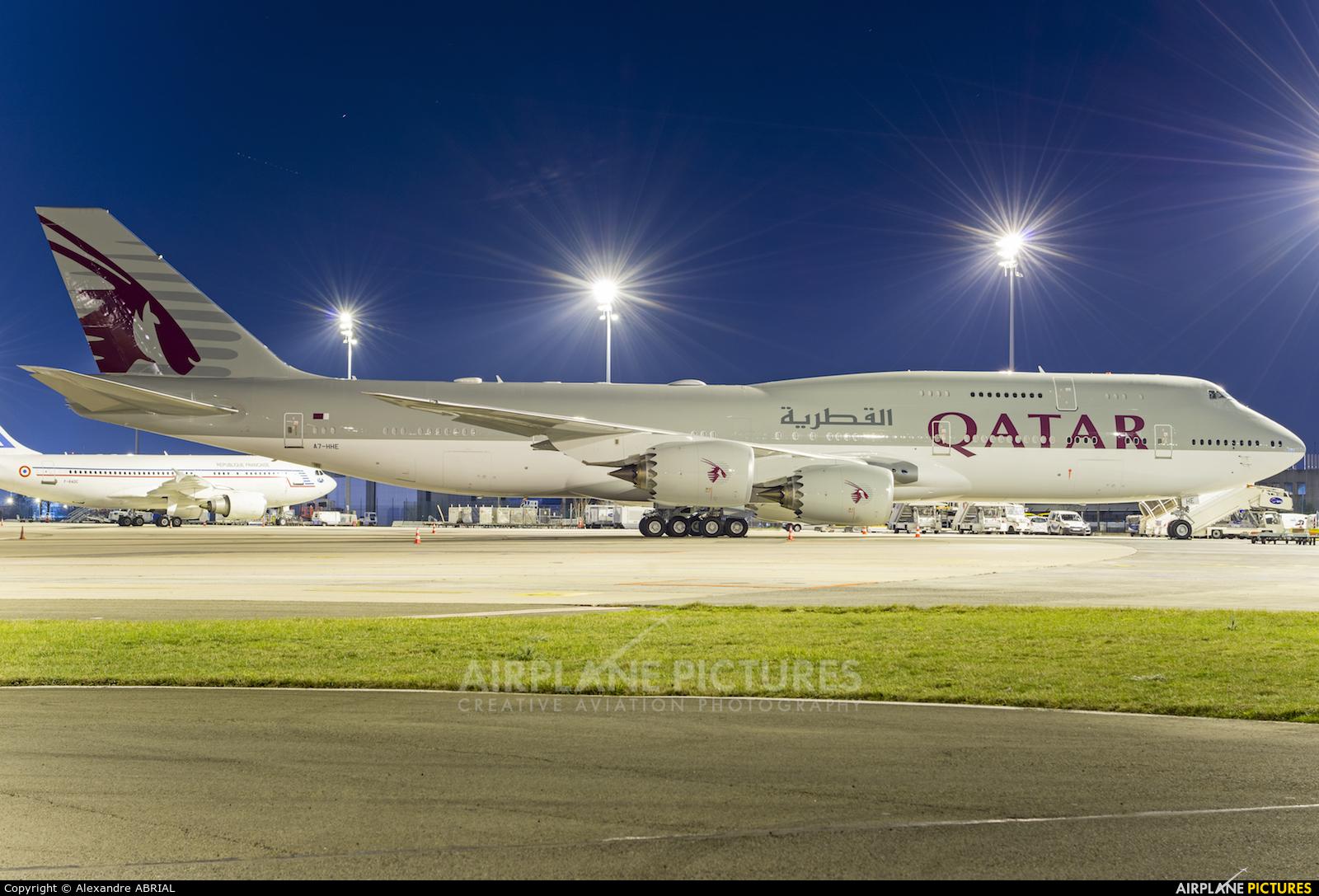 Qatar Amiri Flight A7-HHE aircraft at Paris - Charles de Gaulle