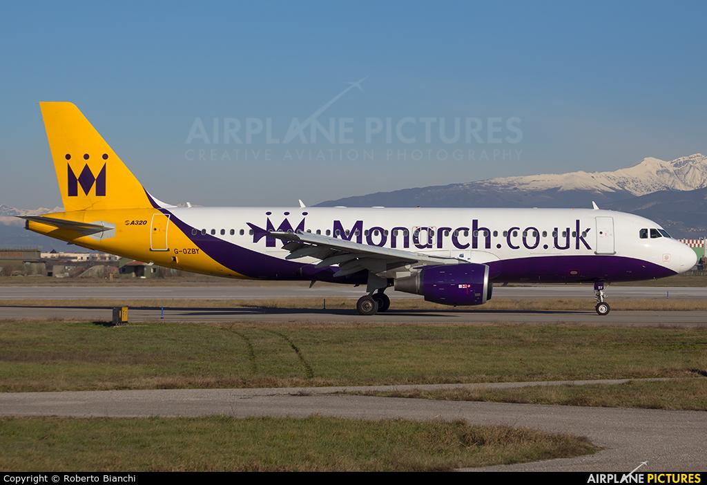 Monarch Airlines G-OZBY aircraft at Verona - Villafranca