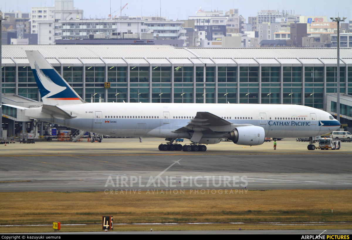 Cathay Pacific B-HNC aircraft at Fukuoka
