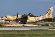 Brand new Egypt Air Force Casa night-stopping at Malta title=