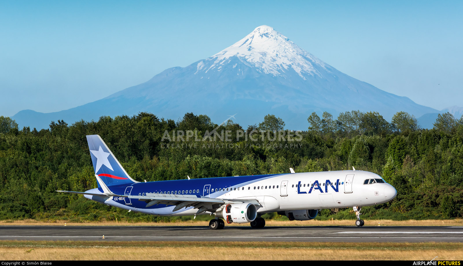 LAN Airlines CC-BEA aircraft at Puerto Montt