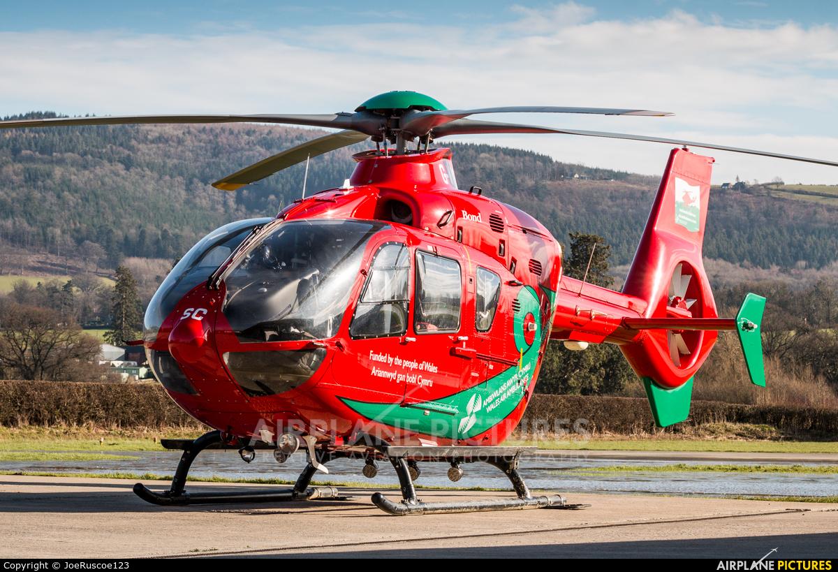 Wales Air Ambulance G-WASC aircraft at Welshpool