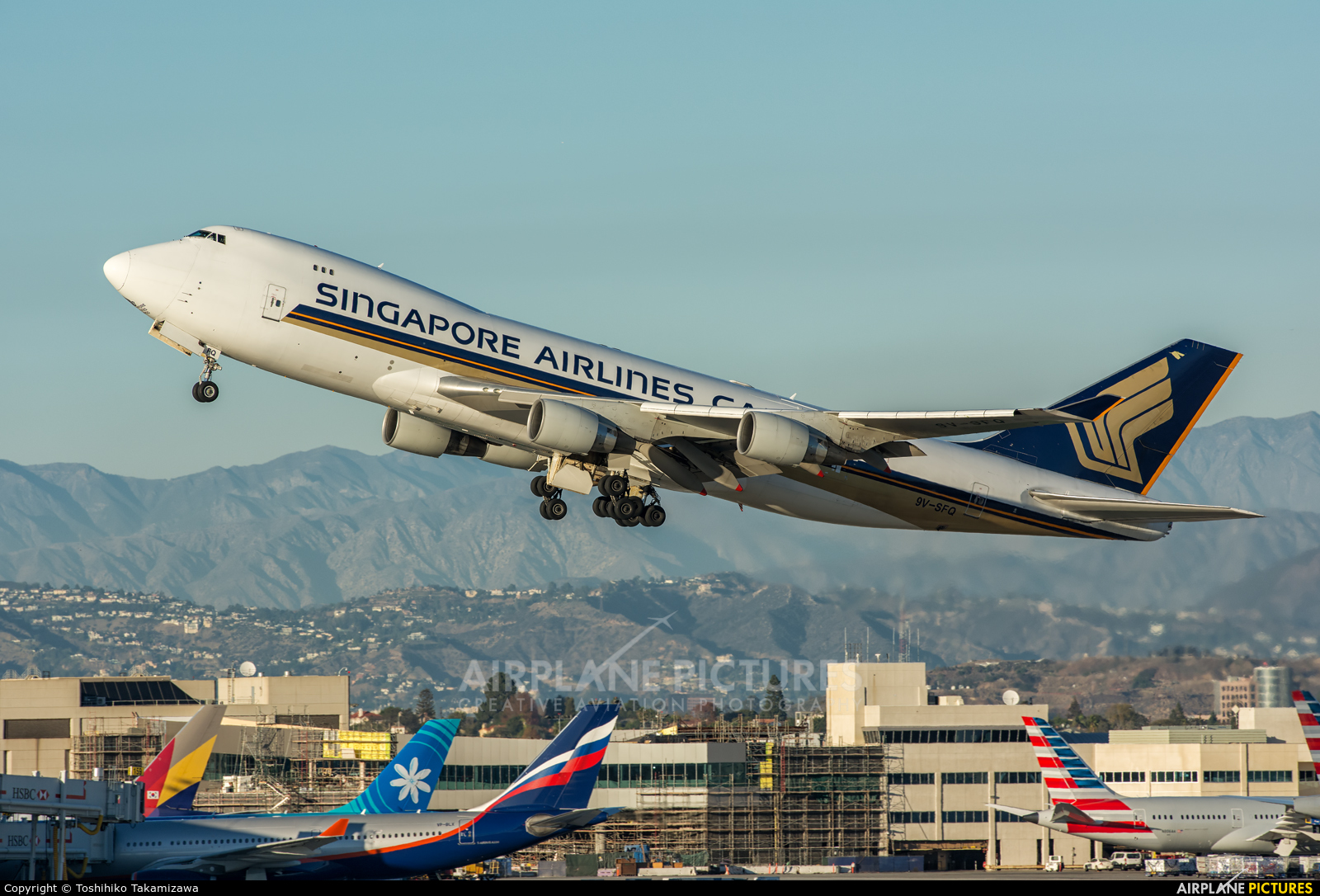 Singapore Airlines Cargo 9V-SFQ aircraft at Los Angeles Intl