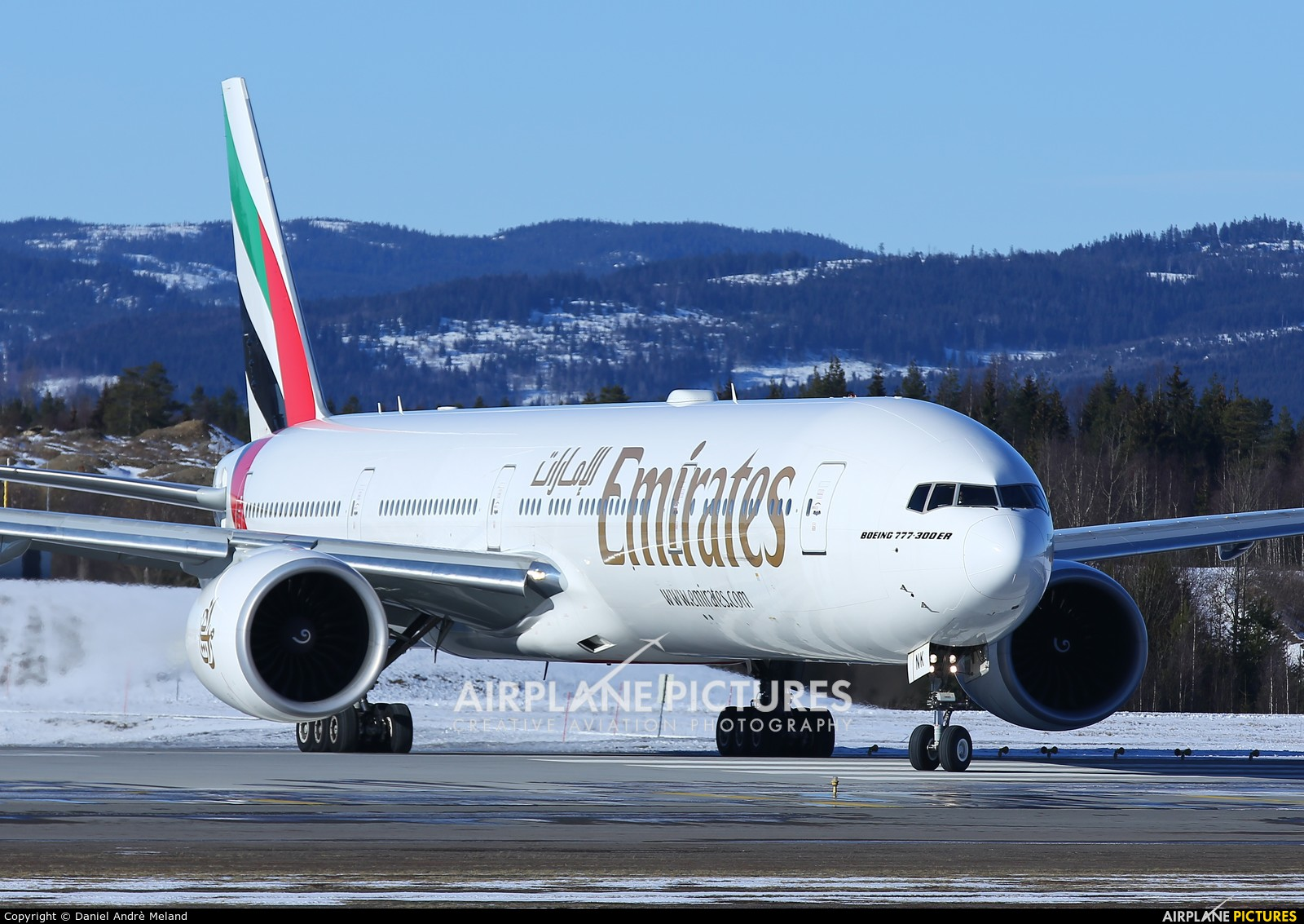 Emirates Airlines A6-ENK aircraft at Oslo - Gardermoen