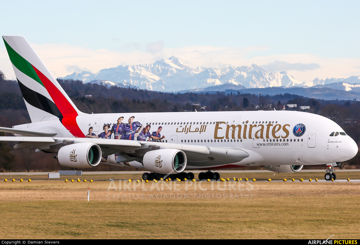 Emirates Airlines A6-EOT aircraft at Zurich