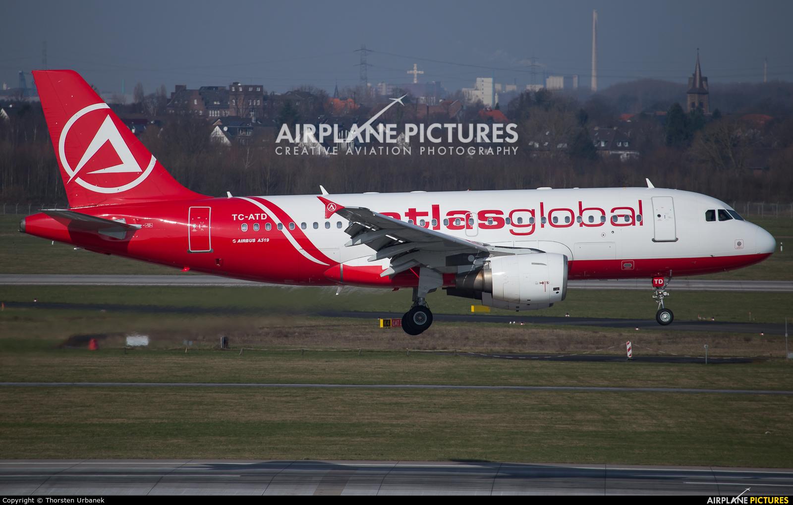 Atlasglobal TC-ATD aircraft at Düsseldorf