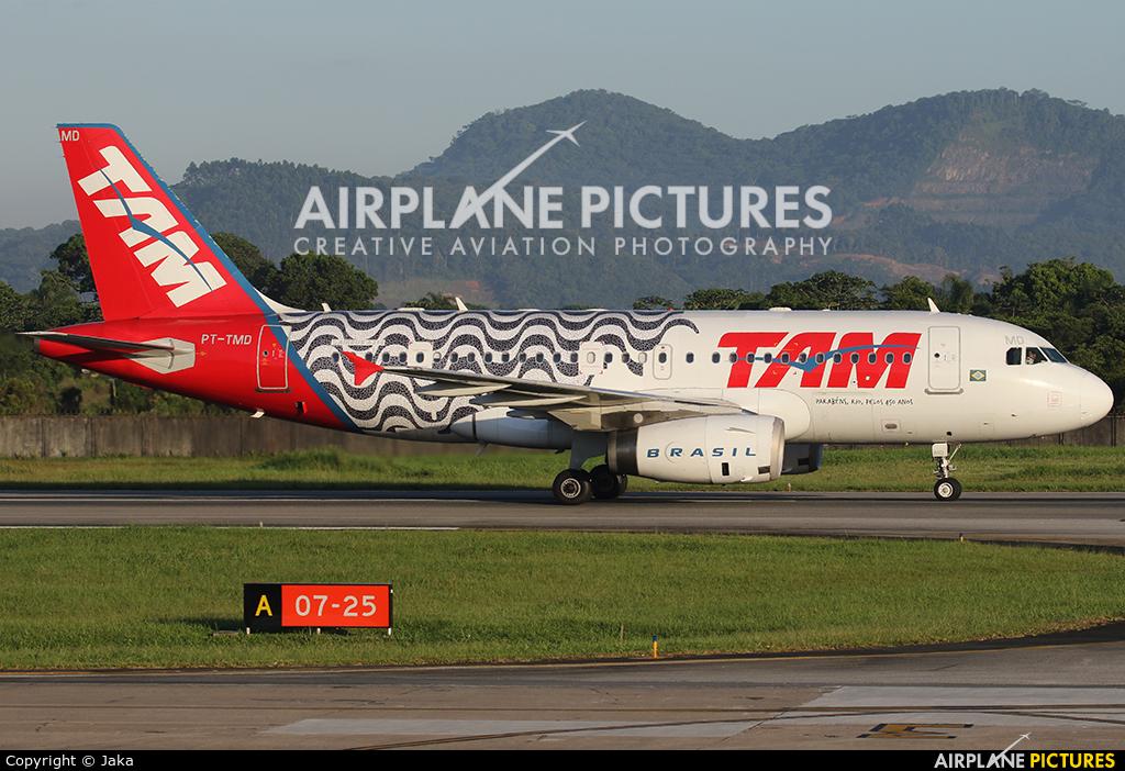 TAM PT-TMD aircraft at Navegantes - SC