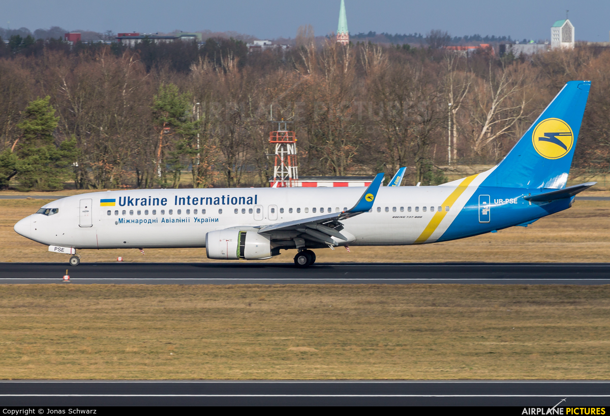 Ukraine International Airlines UR-PSE aircraft at Berlin - Tegel