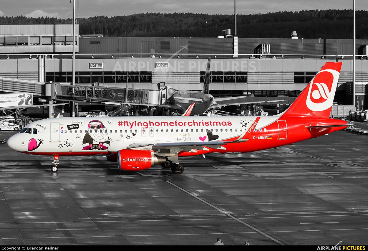 Air Berlin D-ABNM aircraft at Zurich