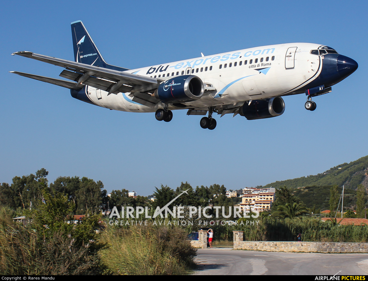 Blu Express I-BPAI aircraft at Skiathos