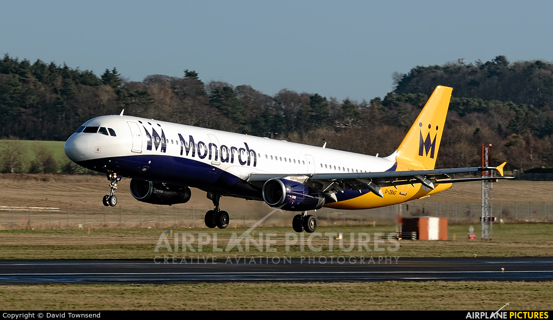 Monarch Airlines G-ZBAG aircraft at Prestwick