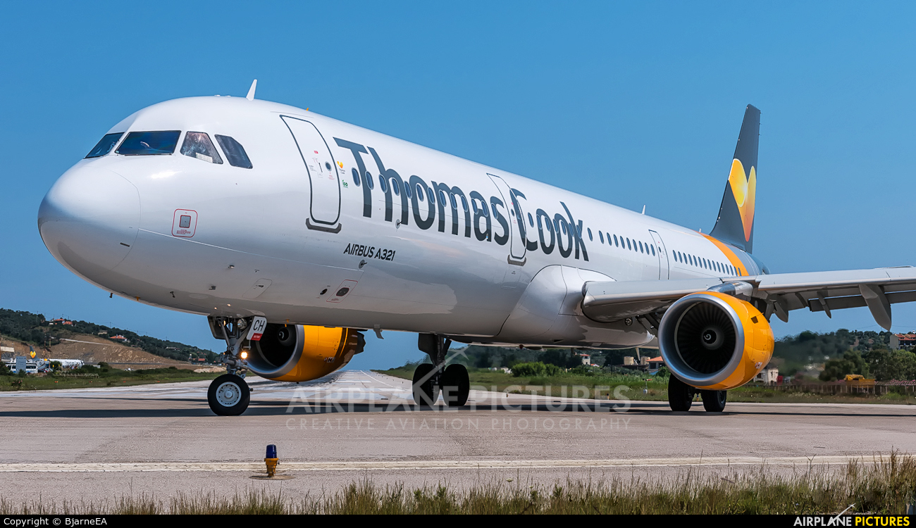 Thomas Cook Scandinavia OY-TCH aircraft at Skiathos