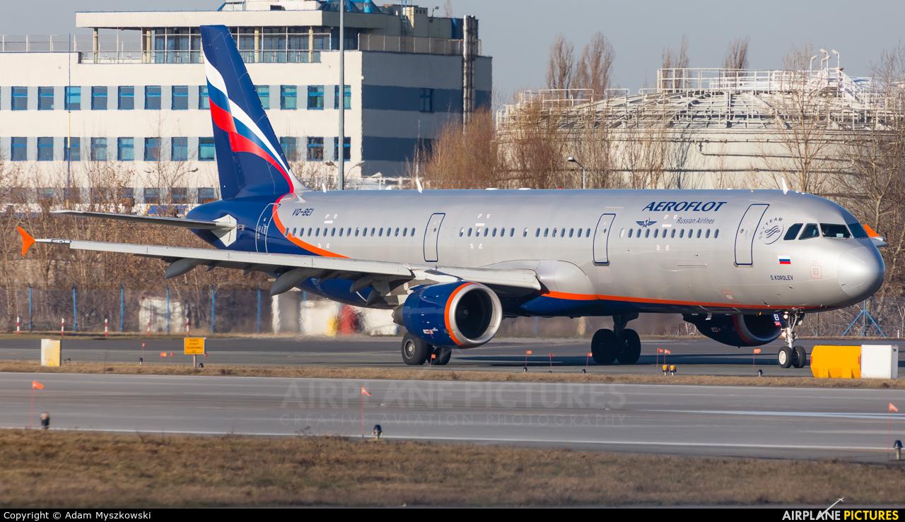 Aeroflot VQ-BEI aircraft at Warsaw - Frederic Chopin
