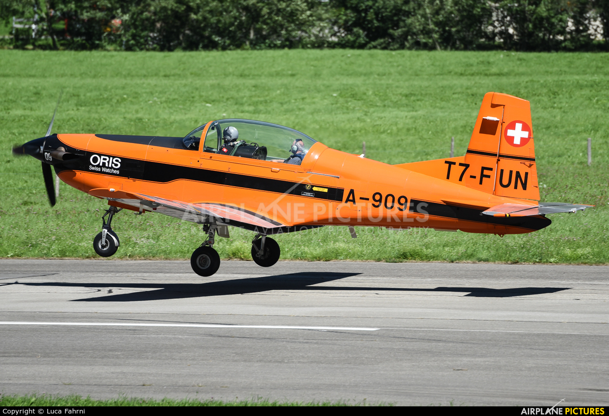 Private T7-FUN aircraft at St. Stephan