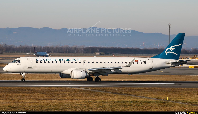 Montenegro Airlines 40-AOA aircraft at Vienna - Schwechat